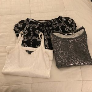 Three tops size m , s